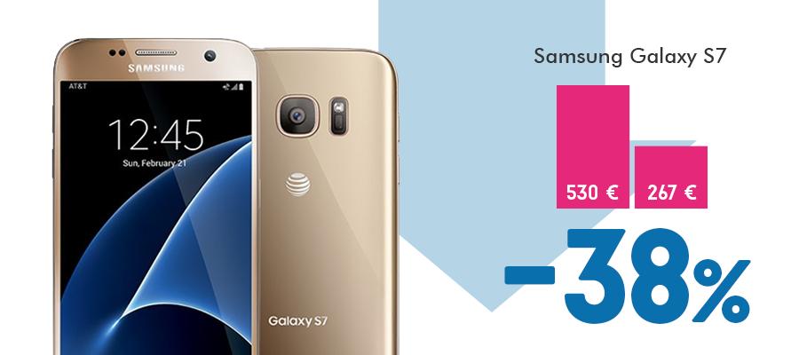 Samsung Galaxy S7 kaina