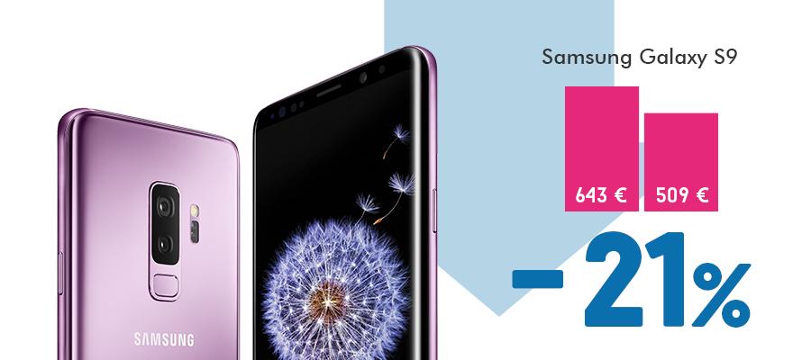 Samsung Galaxy S9 kaina