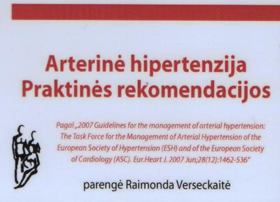 kaip rašyti hipertenziją