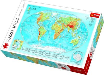 Map Of The World Picture.Trefl Puzzle Physical Map Of The World 1000pcs 10463 Kaina Nuo 7 36 Kainos Lt
