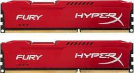DDR3 Kingston HyperX Fury Red 8GB (2x4GB) 1866MHz CL10