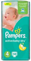 Pampers Active Baby-Dry S4 58