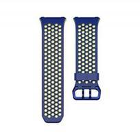 Dirželis FITBIT IONIC, išmaniajam laikrodžiui, mėlynas/geltonas, S dydis
