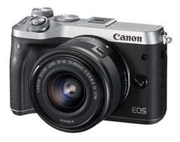 CANON EOS M6 + 15-45mm IS STM (Sidabrinis)