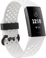 Fitbit Charge 3 Graphite White (Baltas)