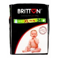 BRITTON sauskelnės XL 13+kg 34 vnt.