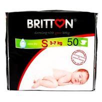 BRITTON sauskelnės S 3-7kg 50 vnt.
