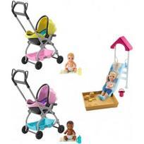 BARBIE lėlės kūdikio vežimėlis/čiuožykla, FXG94