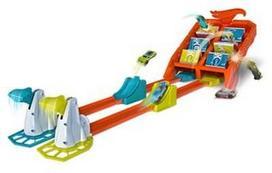 Žaislinė hot wheel trasa spalvotos lentelės gbf89