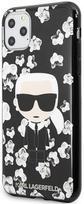 Karl Lagerfeld Flower Iconic Karl Back Case For Apple iPhone 11 Pro Max Black