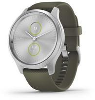 GARMIN Vivomove Style Silver/Moss Green (Sidabrinis/Žalias)