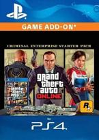 Grand Theft Auto V: Criminal Enterprise Starter Pack DLC PSN Key EUROPE PS4 raktas