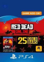 Red Dead Redemption 2 Online 25 Gold Bars PSN Key EUROPE PS4 raktas