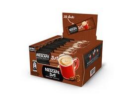 Kavos gėrimas NESCAFÉ 3IN1 su ruduoju cukrumi, 462 g