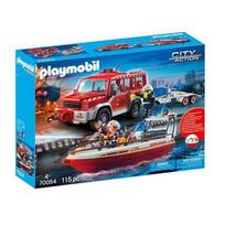Playmobil Fire Rescue Vehicle with Boat 700454