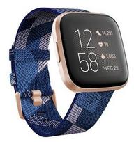 Fitbit Versa 2 (NFC) Navy /Pink/Copper Rose (Mėlynas)