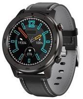 Garett Men 5S Black Grey Leather