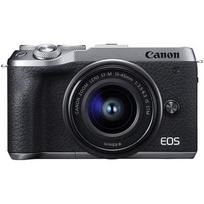 Canon EOS M6 Mark II + 15-45 IS STM (sidabrinis)