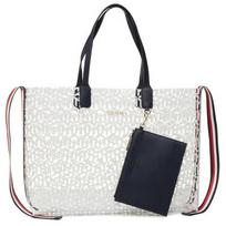 Rankinė TOMMY HILFIGER - Iconic Tommy Tote Transparent AW0AW08319 WHT