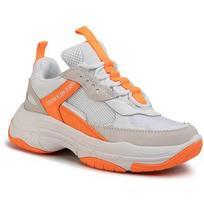 Laisvalaikio batai CALVIN KLEIN JEANS - Maya R0802 White/Orange Fluo