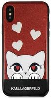 Karl Lagerfeld Valentine Back Case For Apple iPhone X/XS Red