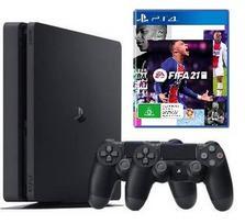Sony Playstation 4 (PS4) 500GB Black + 2 Dualshock 4 + FIFA 21