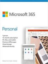 Microsoft Office 365 Personal Retail 1-Year English License Medialess