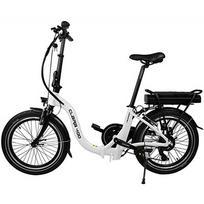 Blaupunkt Clara 400 sulankstomas elektrinis dviratis, ratų dydis: 20'', baltas/juodas
